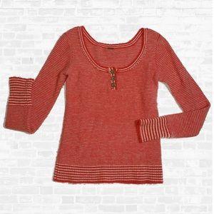 Free People Wool scoop neck sweat shirt